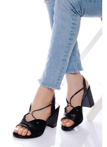 Derithy Derithy-Klasik Topuklu Ayakkabı-Kırmızı Siyah